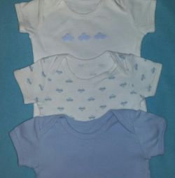 Body Name it with short sleeves 3 pcs 62 cm