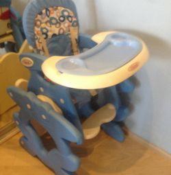 Masă-scaun birou 3 în 1, de la 6 m la 6 ani