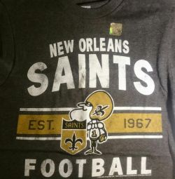 T-shirt of the new NFL team New Orleans Saints