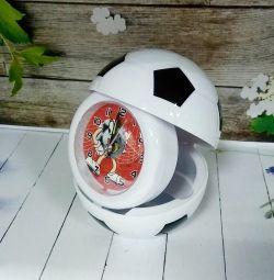 Alarm clock soccer ball