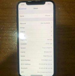 iPhone X 64gb разблокирован