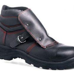 Ботинки кожаные «Сварщик» с композитным подноском