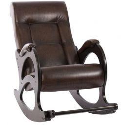 Кресло-качалка с подножкой без лозы