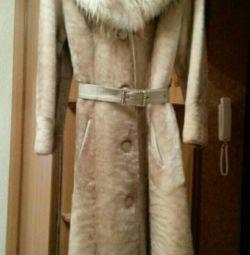 Пальто мутоновое новое