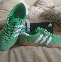 Green Adidas Hamburg, 41 size