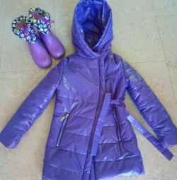 Jacket for the spring p122 as a gift boots in color