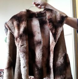 Sheepskin coat artificial