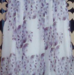 Skirt, natural silk