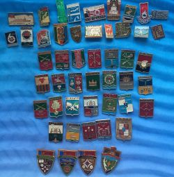 Badges 'emblems and cities'