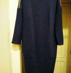 Çizgili elbise Yeni. kış