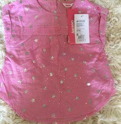 2-6 yaş arası bir kız için tişörtler