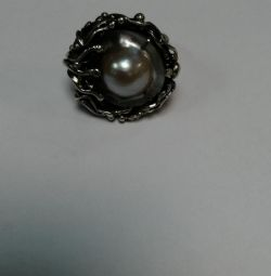 Inel cu perle argint 925