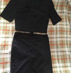 Açık elbise (fermuarlı)