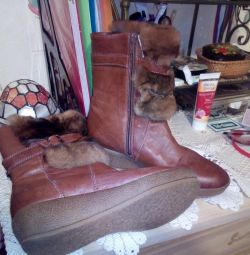 Winter new leather boots