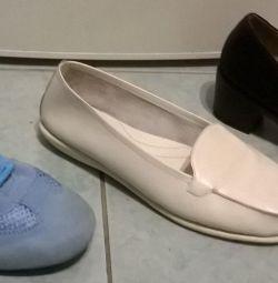 Туфли ,мокасины кроссовки кожаные р.40