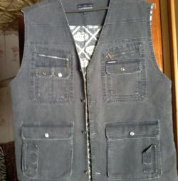 New men's vest with pockets beautiful !!!