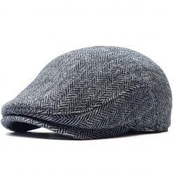 Cap men's wool 705 (gray Christmas tree)