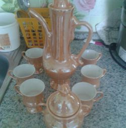 Mother of Pearl Coffee Set