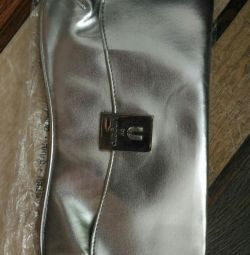Ona yeni çanta debriyaj gümüş hala pantolon var
