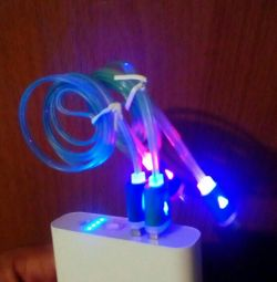 Luminous wire micro USBI