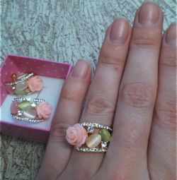 Σκουλαρίκια και δαχτυλίδι