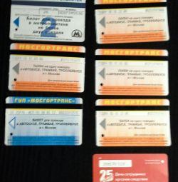 Tickets for the subway and TAT 2005-2012.