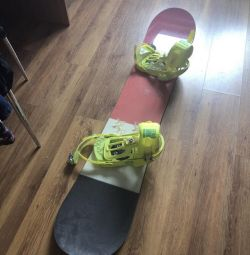 Snowboard with mounts Salomon