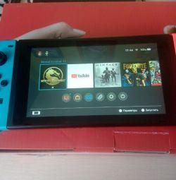 Nintendo switch полный комплект с пятью играми
