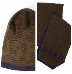 Καπέλο και Κασκόλ (Σετ) της US Polo Assn