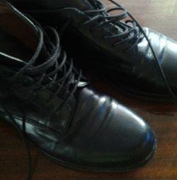 Ботинки, кожа, 37 р.Италия, подошва силикон