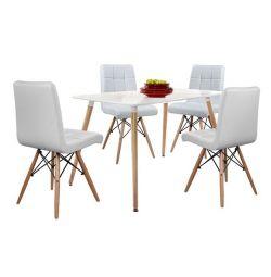 SET TABLES 5T TABLE MINIMAL 120X80-ROSA WHITE