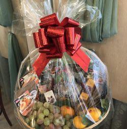 Καλάθι δώρων φρούτων