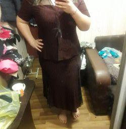 Φούστα κοστούμι με μπλούζα