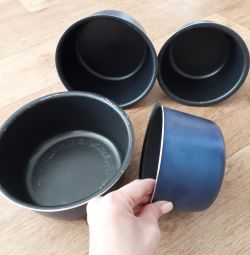 Baking pans, trays.