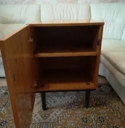 The cupboard is old, but strong, high-quality