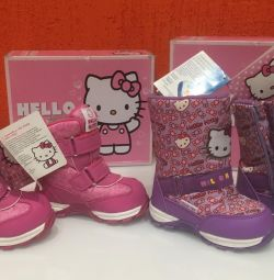 New winter boots, hello kitty, size 23