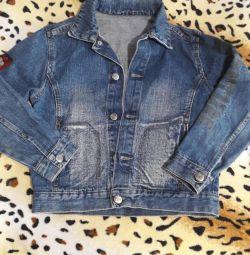 Джинсовая куртка GeeJay на дитя 7- 9 лет