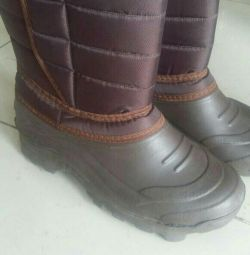 Rubber boots, warm, new