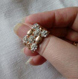 Ring beads rhinestone