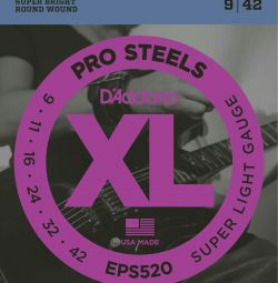 Electric Guitar Strings D'ADDARIO EPS520 sup light