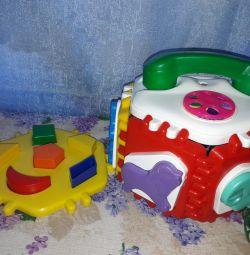 Великий сортер інтерактивний + м'які іграшки
