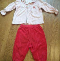 Παιδικά παντελόνια και μπλούζα 1-1,5 ετών