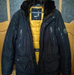 Зимова куртка-пальто 56 розміру