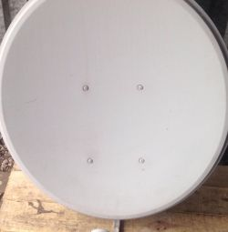 Satellite dish with convector