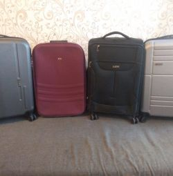 New suitcase on 4 wheels, size M