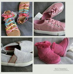 Κορίτσι 23 r παπούτσια σανδάλια μπότες παπουτσιών Carters Παλαιό ναυτικό