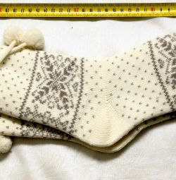 Șosete din lână tricotate noi 36-38