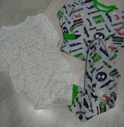 Children's pajamas 110cm for 2 pcs
