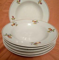 Soup plates, South Ural farf.zavod, 1963-70