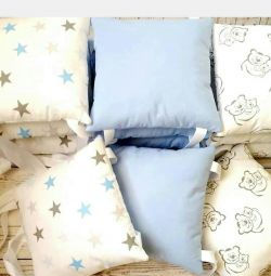 Бортики-подушки+постельное белье